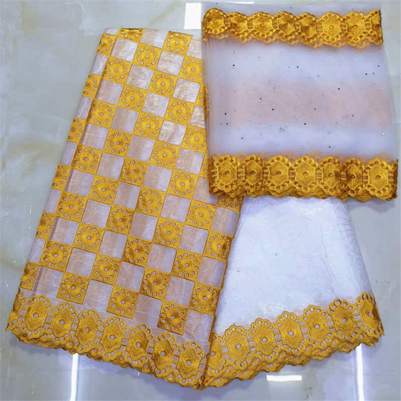 african fabric basin riche getzner bazin brode getzner 2019 dentelle tissu nigerian lace material high quality 7yard/lotYKB 1-in Fabric from Home & Garden    1