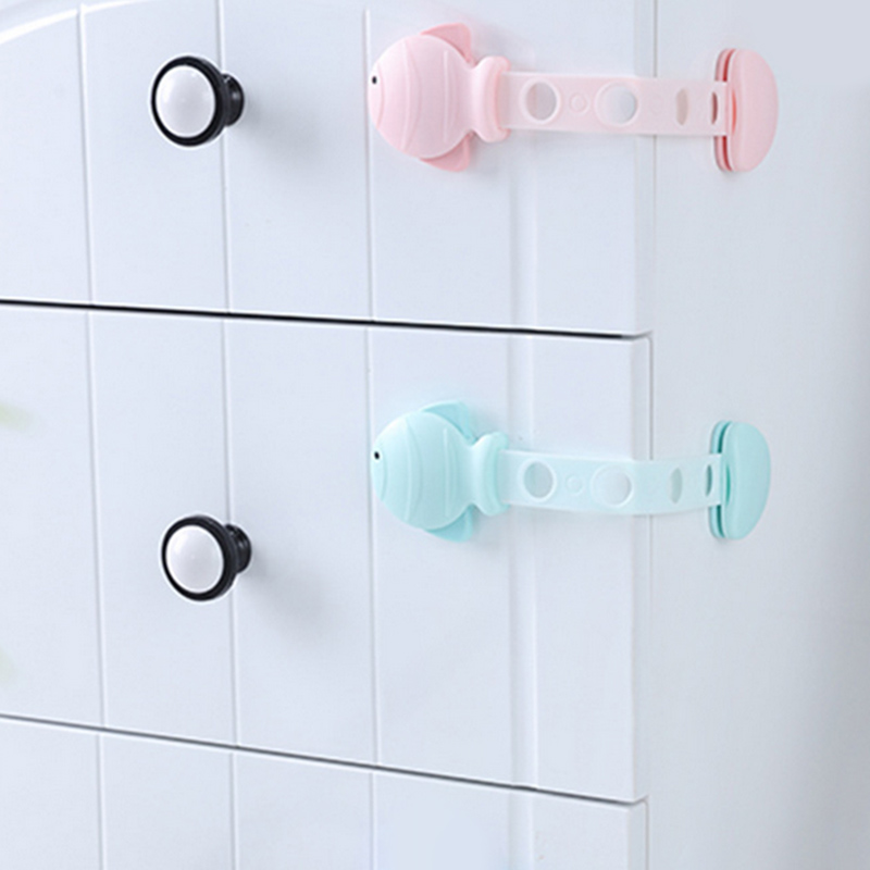 For Children Security Multi-function Small Fish Anti-pinch Drawer Lockstitch Hand Security Protection Child Cabinet Locks