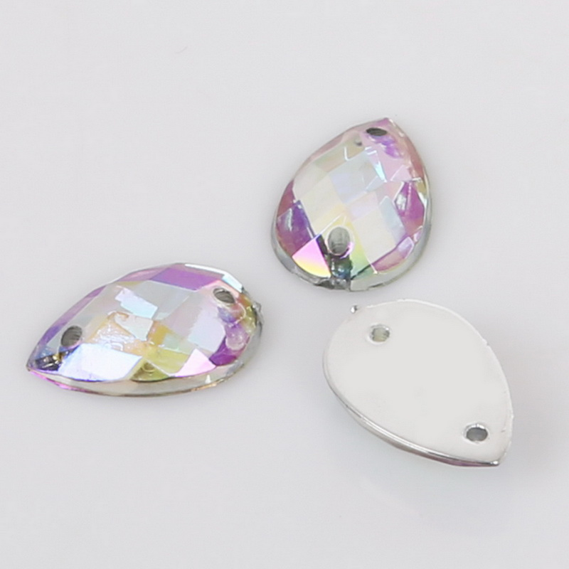 e35ffd2af3 US $0.96 33% OFF|100pcs 8x13mm Grid Acrylic Crystal Sew On Flat Rhinestone  for Clothing Shoes Wedding Decoration DIY Craft Accessories-in Rhinestones  ...