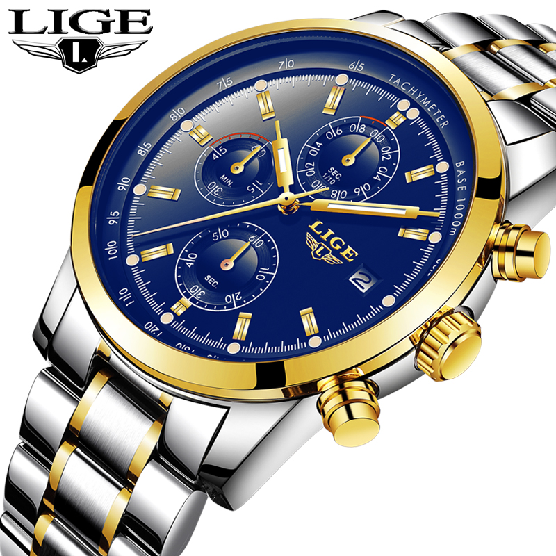 LIGE Relogio Masculino Men Watches Luxury Famous Top Brand Men's Fashion Casual Dress Watch Military Quartz Wristwatches Saat nibosi relogio masculino men watches top brand luxury men s fashion casual dress watch military quartz wristwatches saat 2309