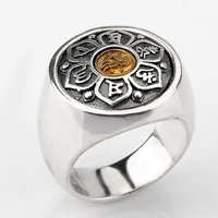 925 Sterling Silver Six Words' Tibetan Mantra Ring Vintage Ring Unique Design For Women Men Lovers Jewelry