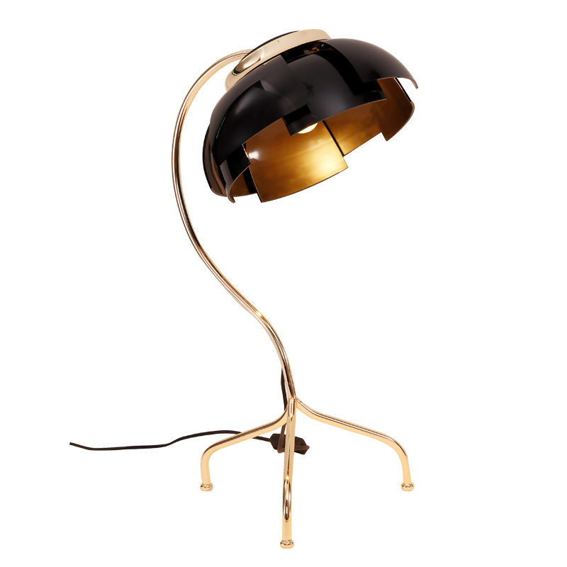 Post modern designer creative metal black gold e27 table - Black table lamps for living room ...