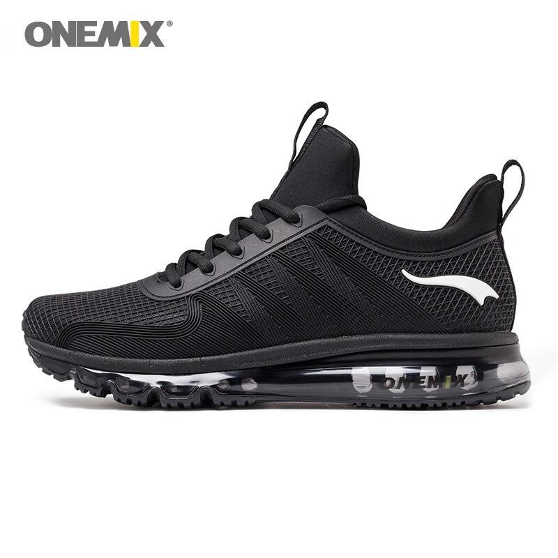 Onemix chaussures de course pour hommes haute haut absorption des chocs sport sneaker respirant sneaker lumière pour de marche en plein air chaussures de jogging