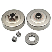2 Different Type Clutch Drum Needle Bearing 17mm P 7 Sprocket Rim For STIHL MS180 MS250