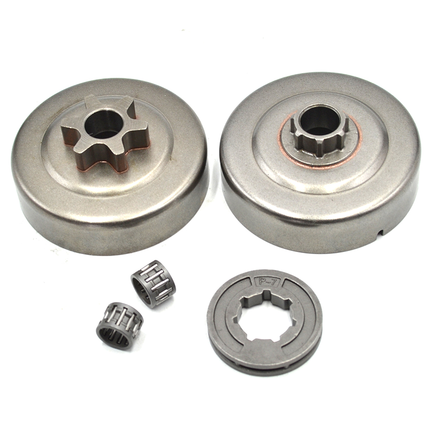 2 Different Type Clutch Drum Needle Bearing & 17mm P-7 Sprocket Rim For STIHL MS180 MS250 MS170 MS230 MS210 Chain saw chainsaw clutch drum rim sprocket 3 8 7t needle bearing kit for husqvarna 61 66 162 266 268 272 jonsered 625 630