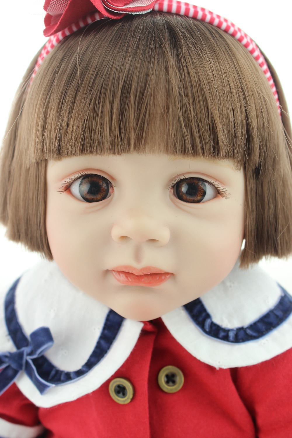 2015 NEW realistic  reborn baby doll rooted human hair fashion doll Christmas gift old gift 2015 new design soft silicone reborn baby doll rooted human hair fashion doll christmas gift