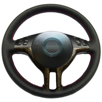 Black Leather Hand stitched Car Steering Wheel Cover for BMW E39 E46 325i E53 X5 For special production