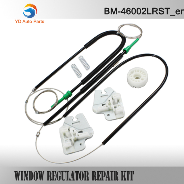 YD CAR PARTS CAR STYLING WINDOW REGULATOR FOR BMW E46 3 SERIES WINDOW REGULATOR REPAIR KIT with METAL SLIDER FRONT LEFT 98-01