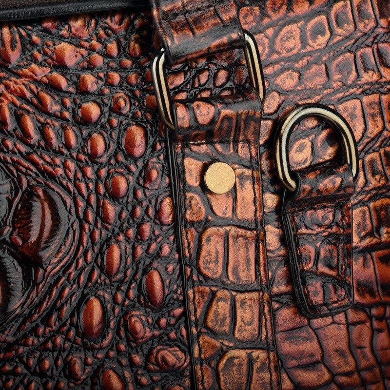 Cuir Coffee Et Portable Carré Hommes Main Black Diagonale En D'ordinateur Europe Amérique Croix frottement section Crocodile D'affaires D'épaule Sac De wRxqpvF