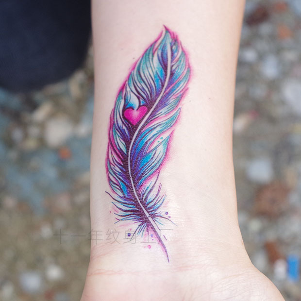 waterproof temporary tattoos stickers sexy women tatoo feather tattoo stickers body art large. Black Bedroom Furniture Sets. Home Design Ideas