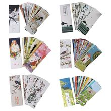 30pcs Flowers Birds Bookmarks Paper Page Notes Label Message Card Book Marker School Supplies Stationery полусапоги franco martini page 8 page 11