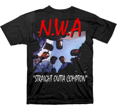 T-shirt Hip Hop NWA Outta Compton Hommes