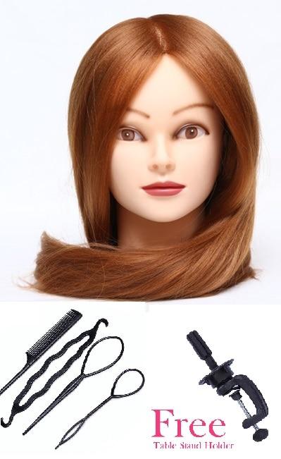 CAMMITEVER 20 Inch Kappers Poppen Hoofd Praktijk Training Hoofd Haar - Kunsten, ambachten en naaien