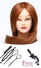 CAMMITEVER 20 Inch kadeřnické panenky Hlava Praxe Trénink hlavy vlasy Kosmetika Styling vlasů Figuríny s praxí Nástroje