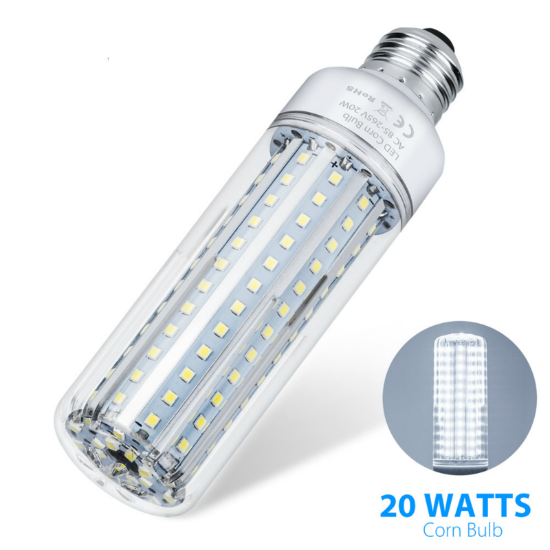 E27 Lamp Dimmable Led Light 85 265V Led Corn Bulb 5W 10W 15W 20W Led Cron Light SMD2835 in LED Bulbs Tubes from Lights Lighting