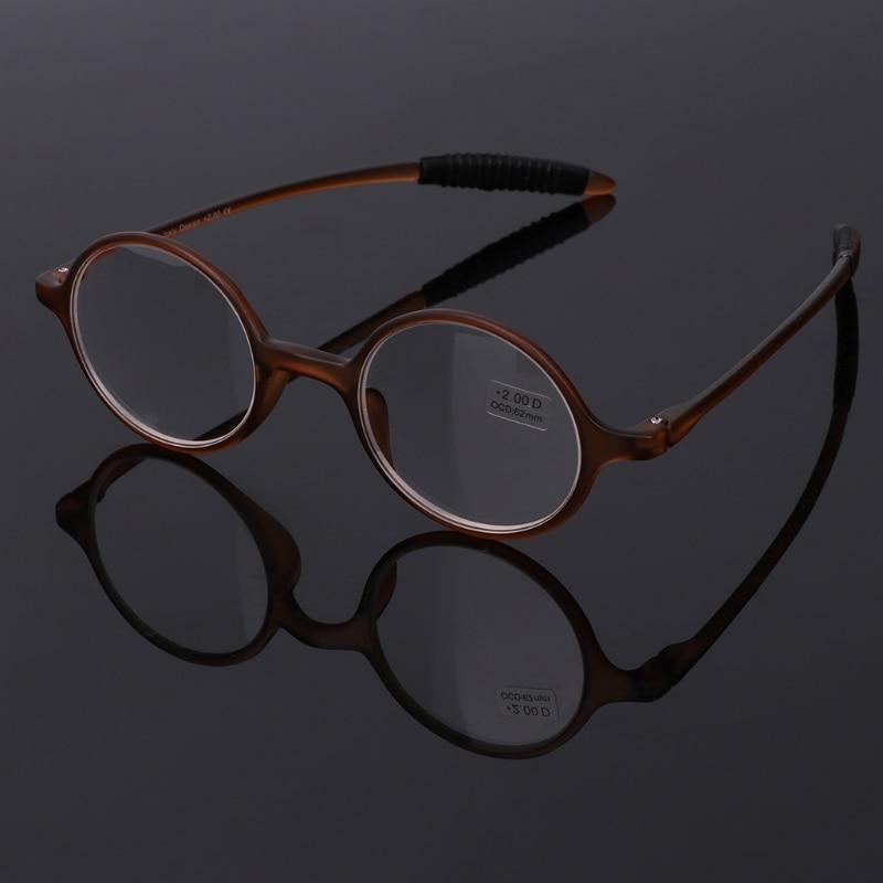 Сверхлегкий TR90 круглые складные очки для чтения очки при дальнозоркости очки аксессуары + 1,0 до + 4,0