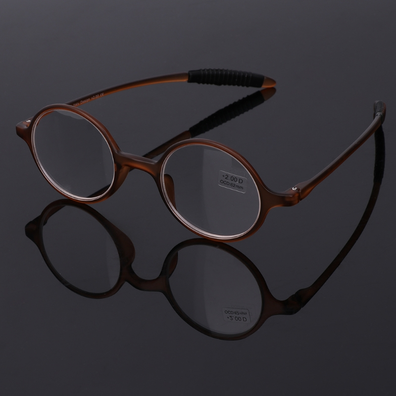 Ultralight TR90 Round Reading Glasses Resin Presbyopia Eyeglasses Eyewear Accessories +1.0 To +4.0