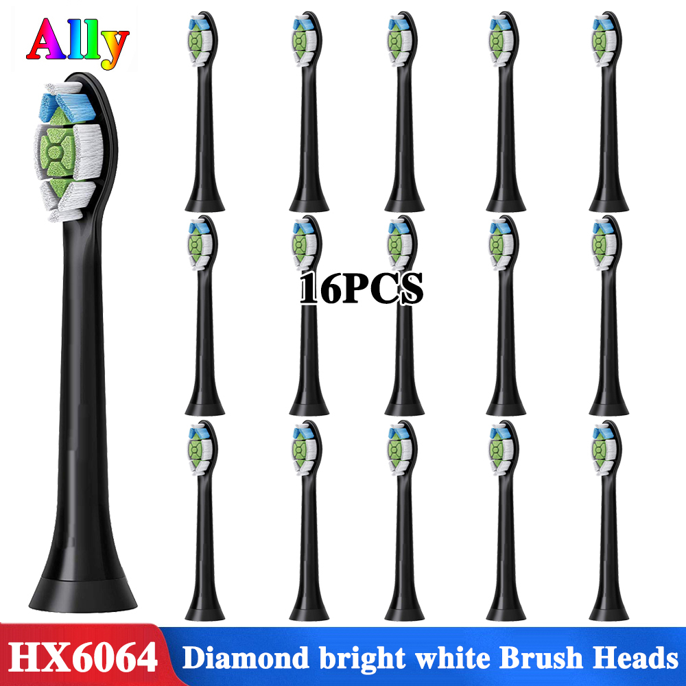 12 Uds. Para Philips Diamond Clean HX6064/33 cabezales de cepillo de repuesto negro HX9322 HX9340 HX9350 cabezales de cepillo de dientes eléctricos