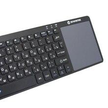 Genuine Zoweetek K12-1 2.4G Russian Wireless Keyboard TouchPad Mouse Backlit Gaming Keyboard For Pad IPTV Smart TV Box MINI PC
