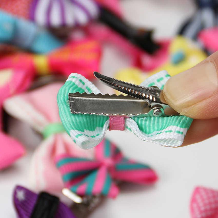 20PCS ที่มีสีสันโบว์ Hairpins Barrettes ผมเด็กอุปกรณ์เสริมเด็กทารกน่ารัก Headwear คลิปผม
