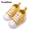 Moda Infantil Criança Sapatos Sapatos de Bebê Recém-nascido Da Menina do Menino Sports Sneakers Fundo Macio Anti-slip-amarrado T Primeiros Caminhantes Prewalker
