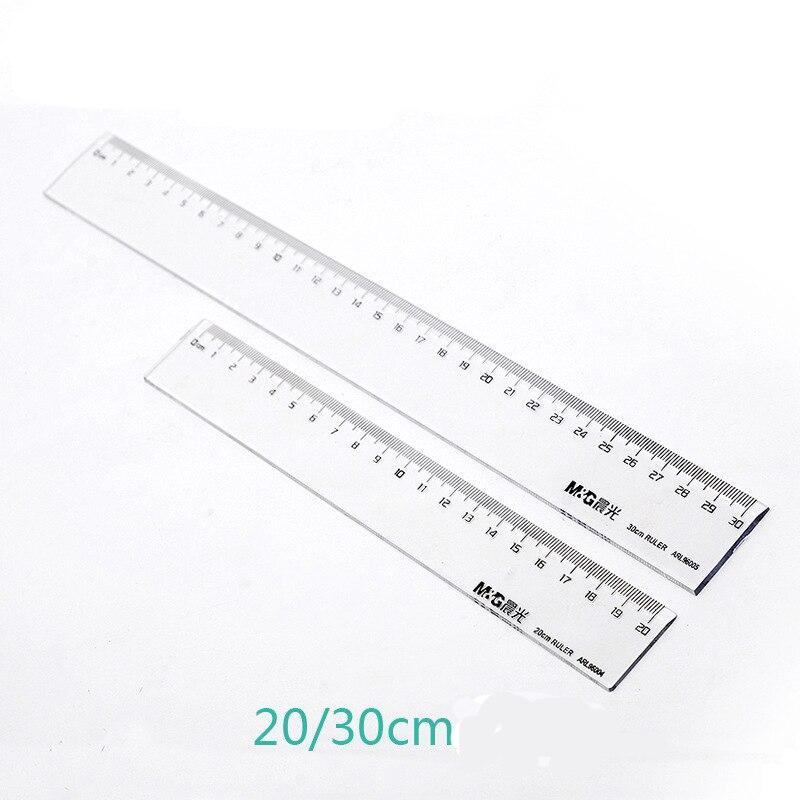 20cm Straight Rule 30cm Student Office Drawing Rule Arl96004/96005