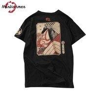 2017 New Japanese Samurai Print T Shirt Men Hip Hop T Shirt Men Camiseta Masculina Funny
