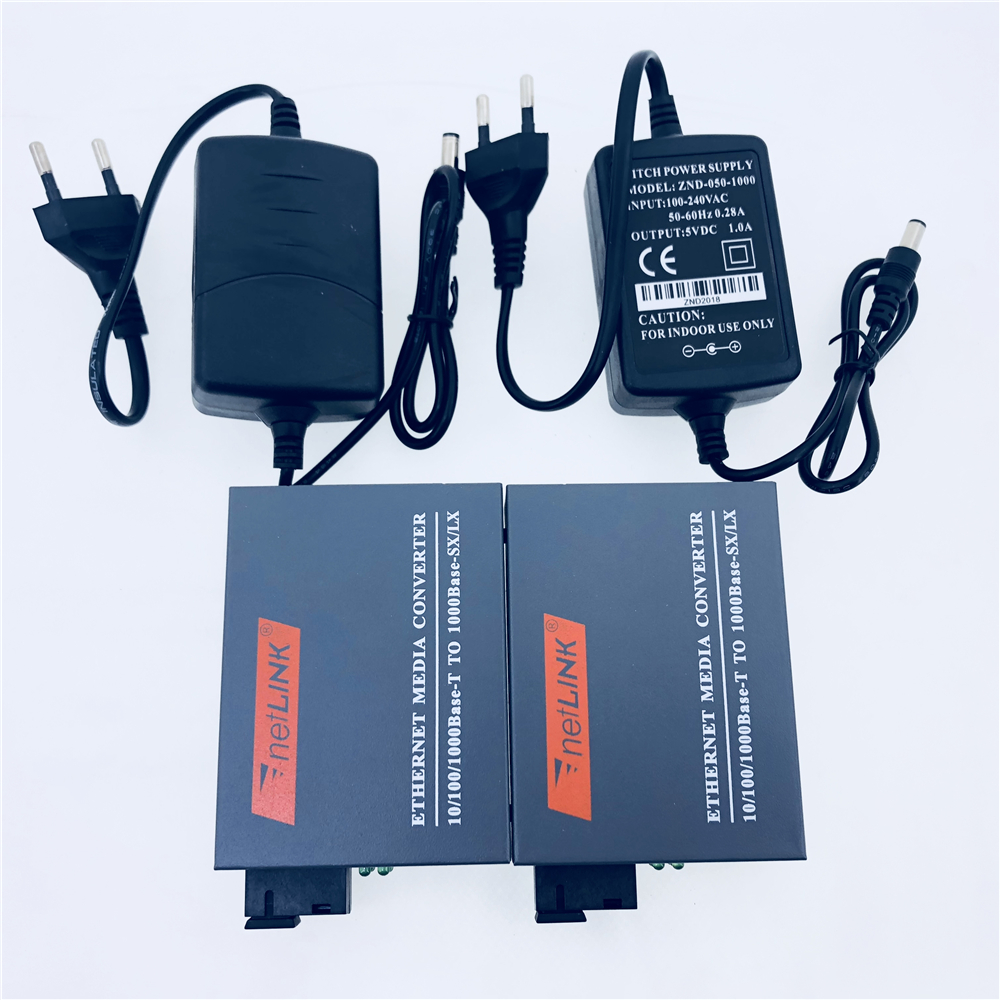 3pairs HTB GS 03 Gigabit Fiber Optical Media Converter 10 100 1000Mbps Single Mode Single Fiber