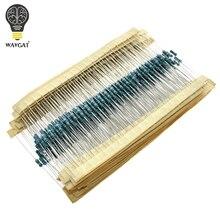 300 600 шт./компл. 1/4 Вт Сопротивление 1% 30 видов каждое значение металлического пленочного резистора кабельные наконечники в наборе для резисторов 100R 1 K, 47(Европа)-10 K 100K 4K7