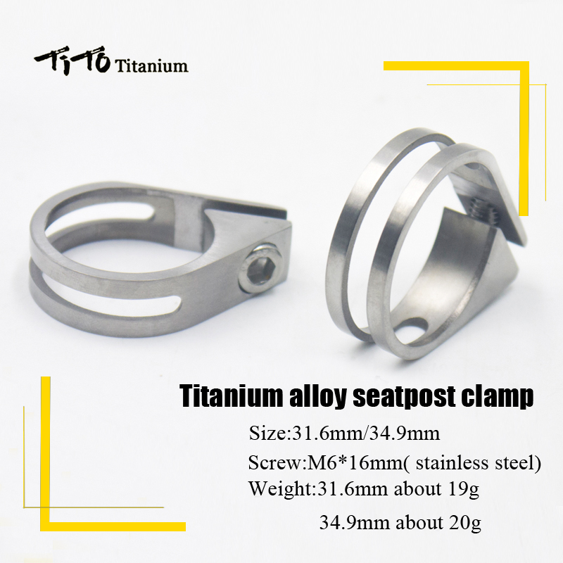 купить TiTo Bicycle Mountain titanium Bike seat post Road Bicycle titanium seatpost clamps 34.9mm/31.6mm titanium alloy Seat tube clip недорого