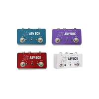 Four Color Channel Switch Guitar Effect Pedal Hand Made Pedal Effect Footswitch ABY Box Pedals For Guitar