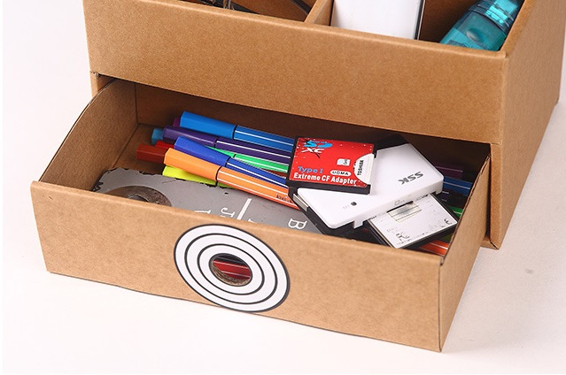 Eco Friendly Cardboard Storage Box Pen Holder Sundries Drawers Office Organizer Table Home Organization In From