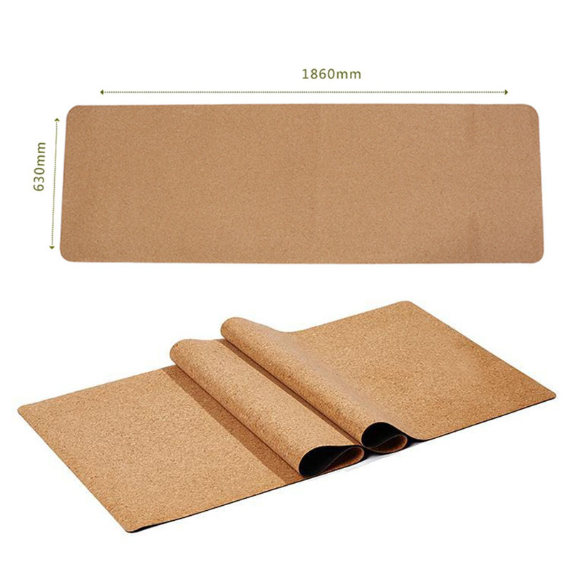 Non-slip TPE Cork Yoga Mats for Fitness Natural Pilates Gymnastics Sport Mats Yoga Exercise Pads Massage Mats 2