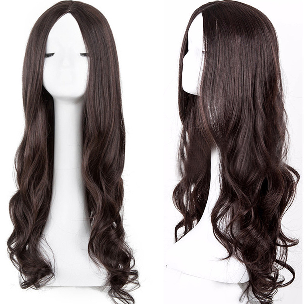SALE Naturally Soft Long Loose Wavy Syntheic Lace Wig Front Wig Curly Full Natural Hair Wigs Women Girl Gift Dropshipping