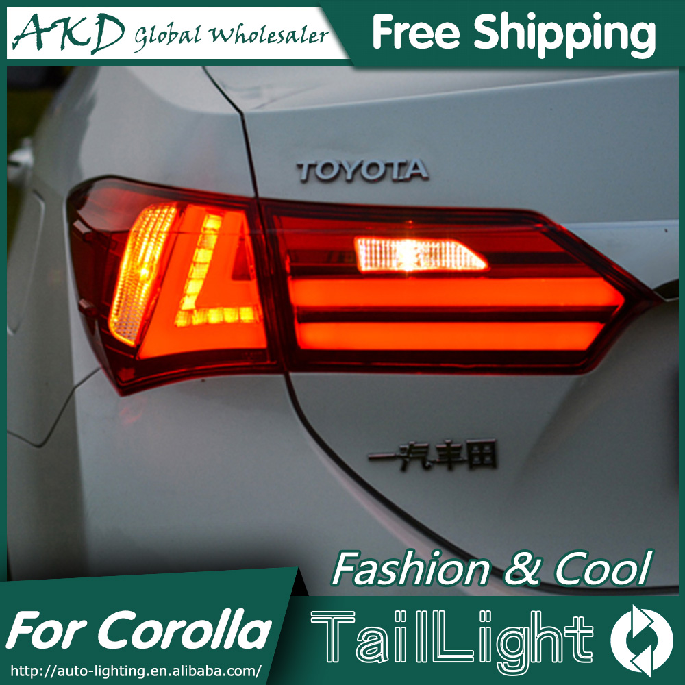 AKD Car Styling for Toyota Corolla Tail Lights 2014 New Corolla LED Tail Light Altis Rear Lamp DRL+Brake+Park+Signal car styling tail lamp for toyota corolla led tail light 2014 2016 new altis led rear lamp led drl brake park signal stop lamp