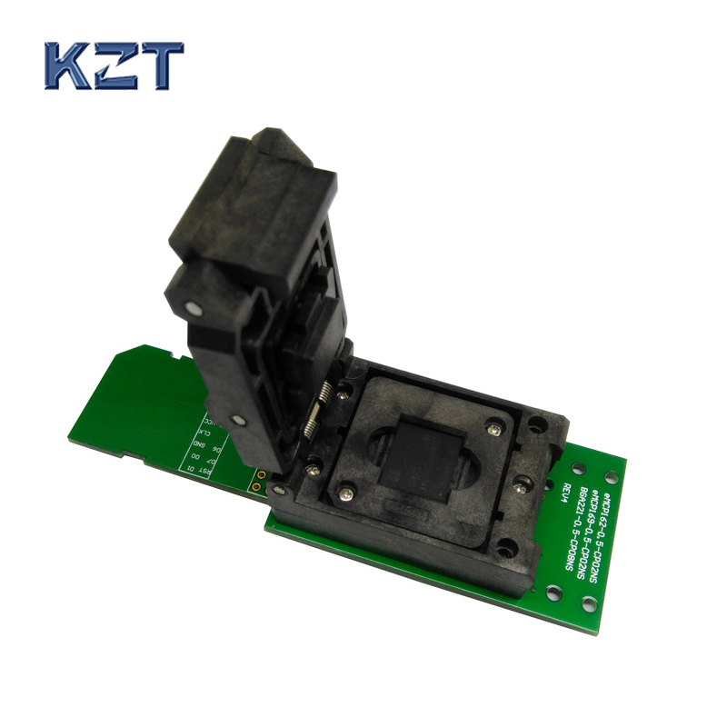 eMCP socket with SD interface, for BGA 221 testing, size 11.5x13mm, nand flash programmer, Clamshell structure