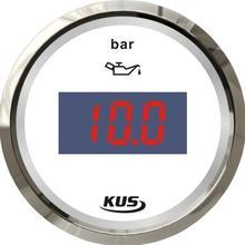 100% Brand New Kus Digital Fuel Pressure Gauge 12V 24V For Boat Automobile Motor Homes Universal Yacht Parts White