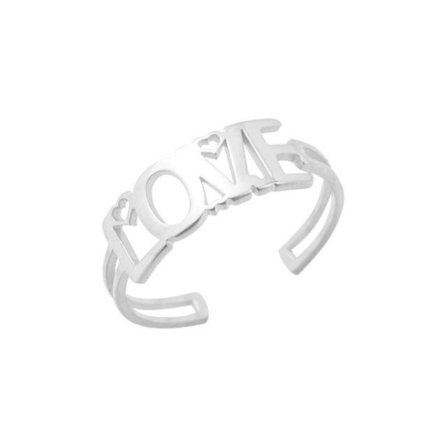10pcs Vintage Romantic Love Initial Ring Stainless Steel Fashion Promise Rings Girlfriend Birthday Gift Ideas Boho