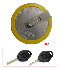 1/Pcs Yellow Color Rechargeable Remote Car Key Shell LIR 2025 3.6V Battery for BMW 3 5 6 7 Series X3 X5 Z3 Z4 Z8 HU92 E46 E39 3B