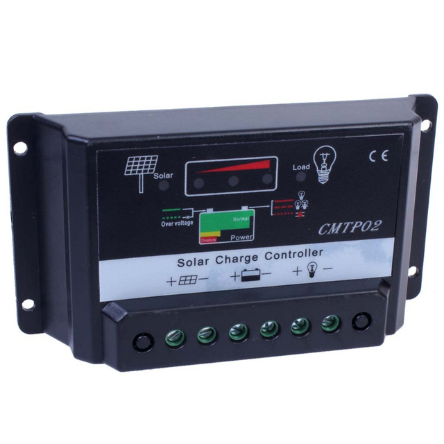5A 12V/24V MPPT Solar Charge Controller Fit Solar Panel Battery Regulator Auto Switch US STOCK