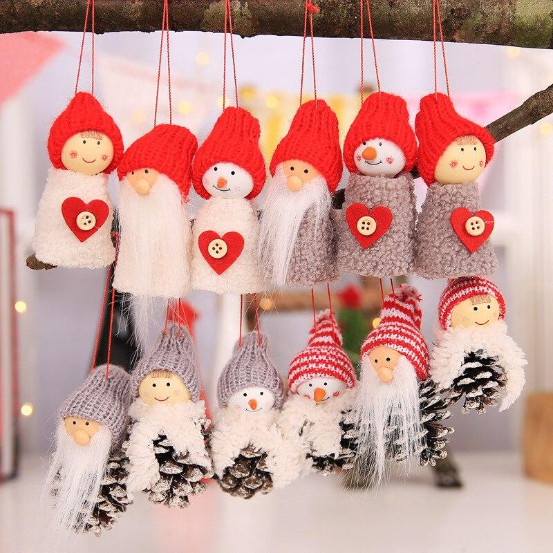 2018 New Santa Claus Christmas Hanging Ornaments Pine Cone