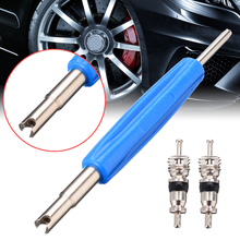 цена на 2pcs Car Bike Truck Motorcycle Tyre Valve Cores Tire Remove Key Tyre with Valve Core Remover Removal Tool Key