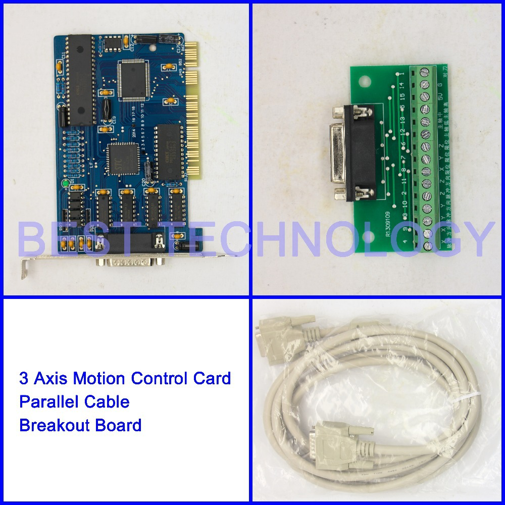 NC Studio 3 Axis PCI motion control card  for CNC Router Engraving Milling machine  CNC Interface Adapter Breakout board