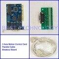 Nc-студии управление движением 3 оси PCI карты для чпу гравировки фрезерный станок с чпу интерфейсная адаптер прорыв доска