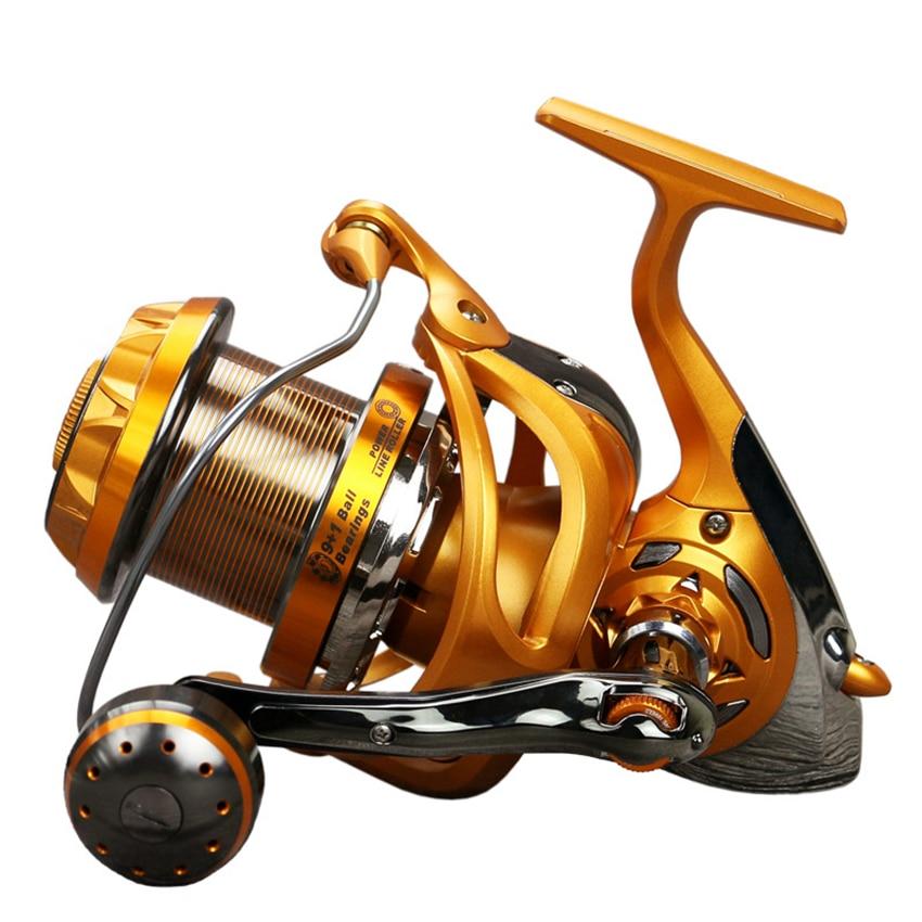 YUMOSH Original Spinning Reel WF4000,WF6000,WF8000,WF9000 Spinning Fishing Reel 9+1BB 5.5:1 Saltewater Carp Long Casting Reel new yumoshi fishing reel 9 1bb spinning reel boat rock fishing wheel 4000 9000 series reel