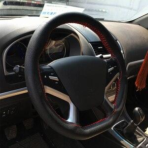 Image 5 - Cubiertas de volante de cuero para coche, bricolaje, trenza en el volante, cubierta para automóvil con aguja e hilo, Kits de accesorios interiores