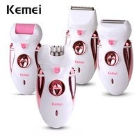 4 In1 Depilator Rechargeable Multifunctional Women Shaver Electric Epilator Hair Removal Foot Care Tool Battery Power