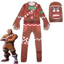 0ade52dcab3b8 Costume de Cosplay homme en pain d épice pour enfants fête Halloween Costume  de noël pour enfants cadeau de fête garçon fantaisi.