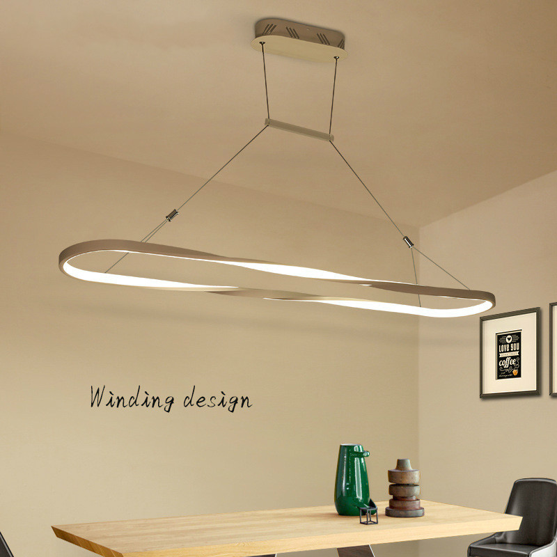 Nordic Creative LED Hanging Light Modern Simple Art Pendant Lamp for Dining Room Restaurant Kitchen Island Home Decor Lighting