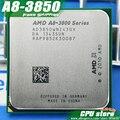Бесплатная доставка AMD A8 3850 Четырехъядерных Процессоров FM1 2.9 ГГц 4 МБ 100 Вт процессор шт A8-3850 APU интегрированная графика, продать 3870 3870 К